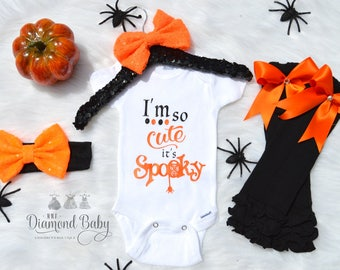 Baby girl Halloween Outfit- First Halloween Outfit- Baby Halloween Outfit- Fall Outfit- First Boo Day Outfit- Baby Costume-Baby Girl Costume