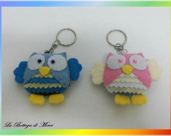 Owls Keychain - Felt Owls