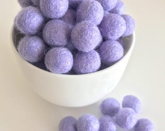 Felt Balls // Felt Pom Poms // Felt Beads // DIY Ball Garland // diy Mobile // diy Necklace //100% Wool Balls // LAVENDER // 15mm /1.5 cm