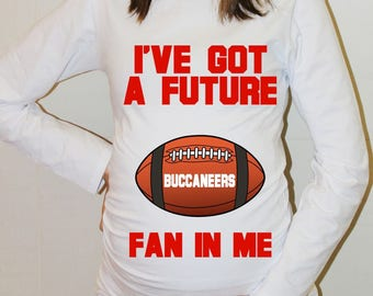 Buccaneers Maternity Shirt Tampa Bay Buccaneers Baby Future Fan Shirt Baby Tampa Bay Football Maternity Clothing Pregnancy Shirt Baby Shower