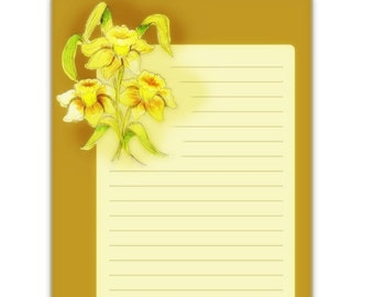 Spring Jonquils Journal Cards