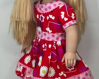 Valentine's Day Dress for 18 inch dolls