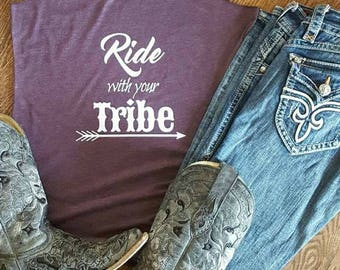 Ride with your Tribe Women's tank