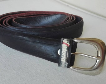 "Belt from old race bicycle tire, black, ""Vittoria"""
