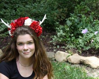 Antler Crown, Flower Crown, Christmas Themedish