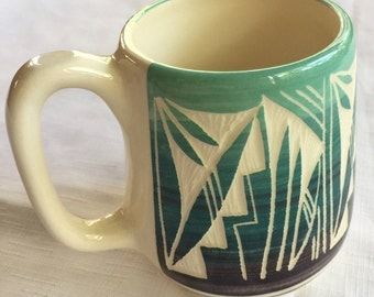 Native American Mug,Navajo Mug,Navajo Cup,Navajo Kitchen,Native Pottery,Southwest Gift,Navajo Pottery,Indigenous Mug,Southwest Kitchen