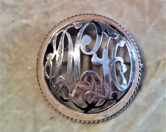 Sterling Silver Pop-Up Circle Brooch