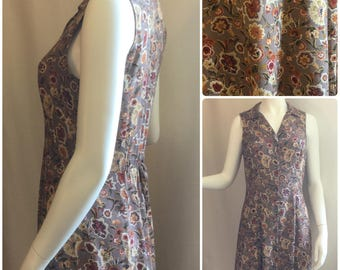 All That Jazz Floral Maxi Button-down Dress