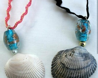 Siren and mermaid necklace set for couples best friends sisters - best friend necklaces - couples necklaces - beach jewelry - ocean jewelry