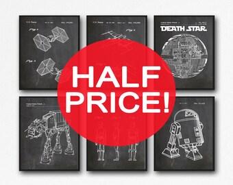 6 Star Wars patent Posters Set of Star Wars Posters Star Wars Prints Star Wars Decor Star Wars Gift Star Wars Art Print (WB121)