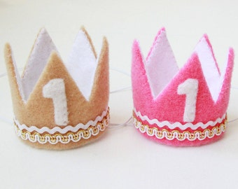 Birthday Crowns For Twins Girl And Boy | Twins Birthday | Twins Babies First Birthday Crowns | First Birthday Crowns For Twins | Photo Props