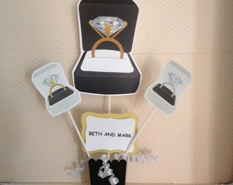 Diamond Ring Engagement Party Centerpiece