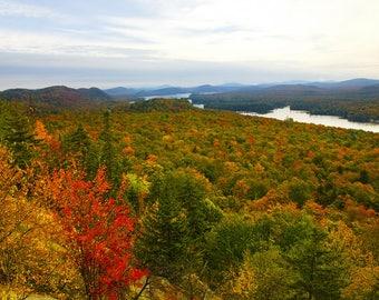 Autumn Landscape Print, Adirondack Mountains,Landscape Photo, Autumn Photography, Old Forge, Adirondack Fine Art, Nature Photography