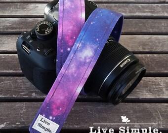 DSLR Camera Strap Galaxy | Accessories | Soft Cotton | Live Simple®