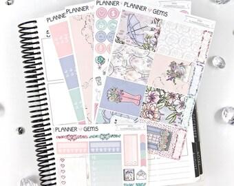 Rain Essential Weekly Planner Kit | 150+ Stickers | Planner Stickers | For Erin Condren LifePlanner