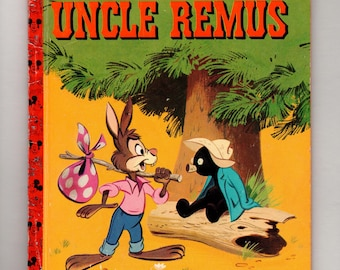 Vintage Little Golden Book: Uncle Remus, Walt Disney, Mickey Mouse Club, illustrated children's book, 1947, Movie Song of the South, vintage