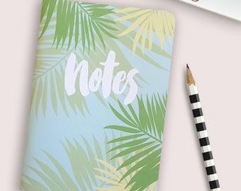 Ferns notebook, 28 blank pages // beachy fresh design // cute notebook, sketch book, journal, travel journal, cute stationery
