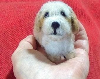Needle felted Havanese Terrier
