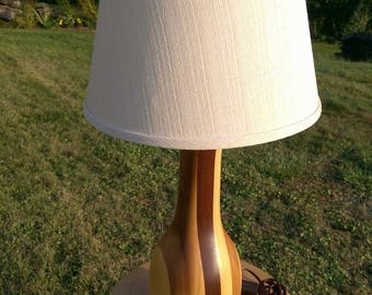 Hand Turned Wooden Lamp