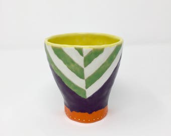 Wine Cup- Orange/Green