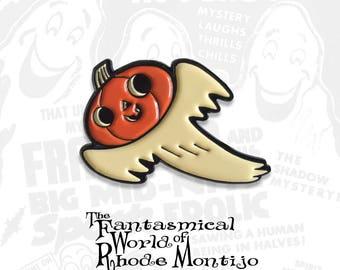 Ghost Jack Halloween Enamel Pin by Rhode Montijo
