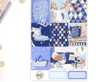 Stay Cozy Weekly Kit for use in Erin Condren