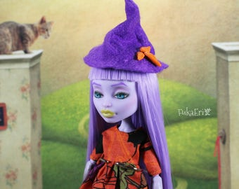 Monster High Custom Repaint Art doll OOAK Twyla/Witch/Halloween