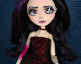 """ON RESERVE for Angel D.! Ever After High Custom Repaint Art doll OOAK Raven Queen """"The vampire"""""""