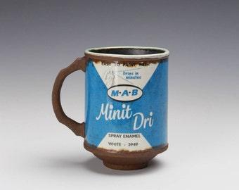 """Porcelain Mug """"Minit Dri"""" w/ White Rim"""