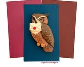 Owl Vintage Inspired Novelty Brooch - Magical Statement Brooch - Bird Lover Jewelry