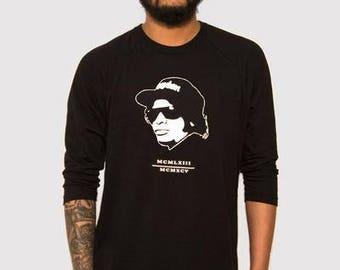 Eazy E Black/Black Raglan