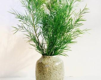 Handmade organic earthy ash glaze vase. Stoneware. Melbourne