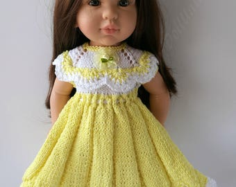Hand Knitted Dress for Paola Reina Soy Tu  40-42 cm / 16-17 inch dolls