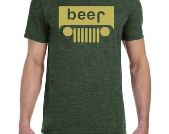 Jeep Beer Funny T shirt S - 2XL