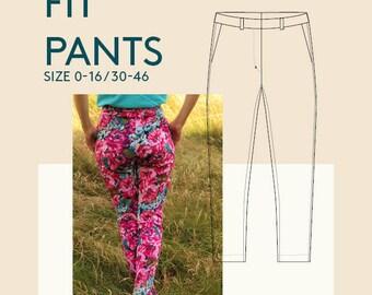 womens Pants PDF sewing pattern|Trousers PDF sewing pattern for women|women's trousers PDF sewing pattern|women's pants pattern for sewing