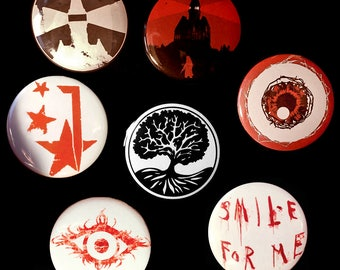 The Evil Within (psycho break) Set of Pinback Buttons