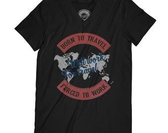 Fathers day shirt born to travel t-shirt traveler t-shirt adventure t-shirt world t-shirt vacation t-shirt husband gift AP1