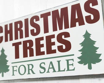 Christmas Tree Sign, Christmas Trees For Sale Sign, Christmas Trees for Sale, Farmhouse Christmas Sign, Rustic Wood Christmas Sign, 23x11 in