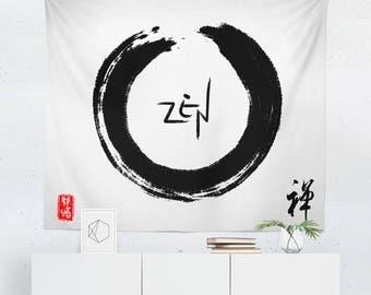 Zen Tapestry | Zen Wall Tapestry | Zen Wall Decor | Zen Gift | Zen Wall Art | Zen Art | Zen Decor