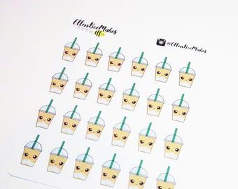 Kawaii Coffee Frappuccino Sticker Sheet