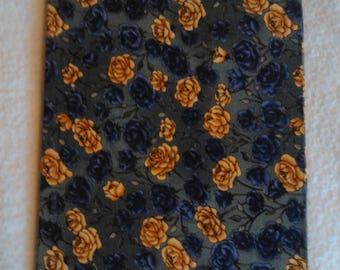 Roses Fabric Covered Travel Notebook