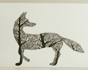 Fox Tree Silhouette VIII