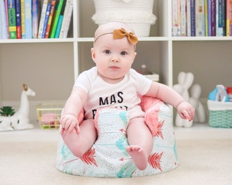 Coral and Mint Arrow Bumbo Cover
