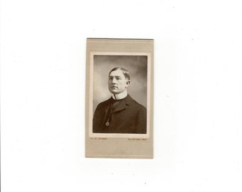 antique cabinet card of a minister
