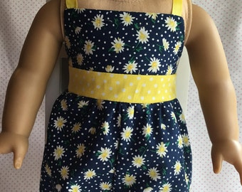 """SHORT SUMMER JUMPSUIT Fits American Girl and Other 18"""" Dolls"""