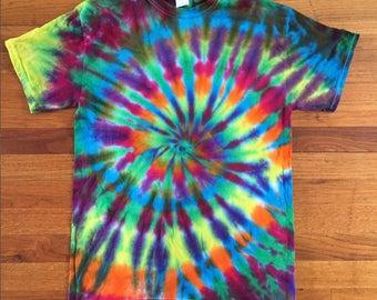 "Rainbow ""Feathered"" Tie Dye T-shirt"