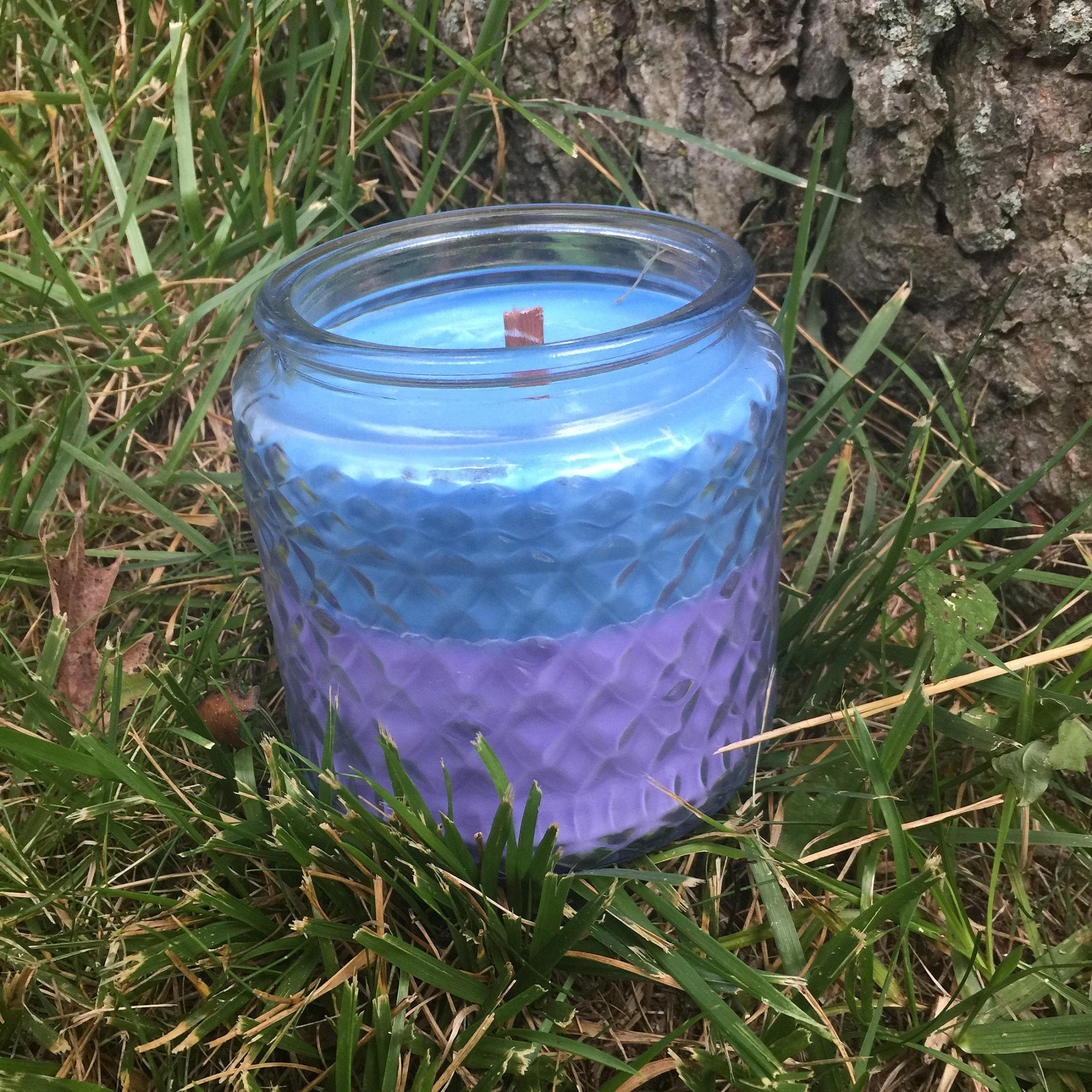 Jasmine Rain Wooden Wick Candle