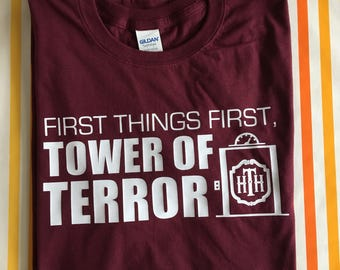 First things first, Tower of Terror. Hollywood Studios inspired t shirt