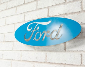 Ford Motor Company Floating Metal Wall Art
