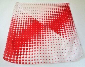 Polka dot silk scarf, Red & White Polka Dot Silk Scarf
